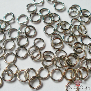 Jump rings / open / silver colored / 4mm / 10g