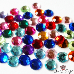 Rhinestones / cabochons / mixed pack / 20 pieces