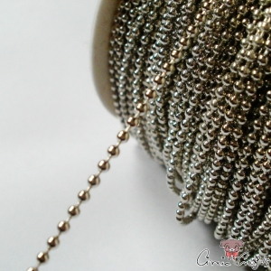 Ball chain / 2mm / 1m / silver colored