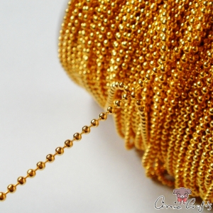 Ball chain / 2mm / 1m / gold colored