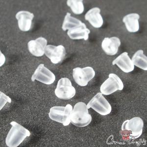 Soft plastic earnuts / 20 pieces / transparent