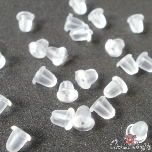 Soft plastic earnuts / transparent / 20 pieces