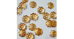 Bead caps / 7mm / 20 pieces / gold colored