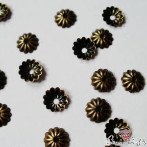 Bead caps / 4,5mm / 20 pieces / antique bronze colored