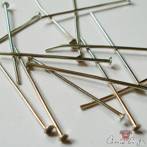 Headpins / platinum colored / 28mm / 20 pieces