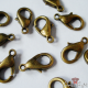 Lobster claw clasps / antique bronze colored / 12mm / 5 pieces