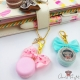 Macaron with bow / different colors / charms