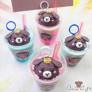 Bubble tea & ice cream soda / different variations / note holder