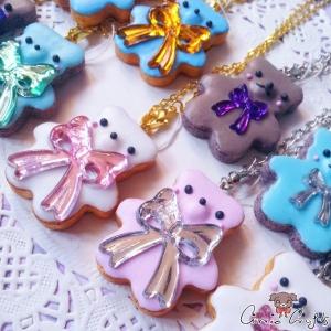 Keks in Bärenform / Verschiedene Farben / Halskette