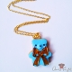 Bear shaped cookie / different colors / necklace