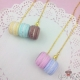 Macaron tower / gold colored / different colors / necklace