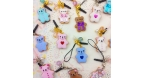 Bear shaped cookie / different colors / charms & dust plugs