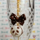 "Marshmallow ""Panda bear"" / gold colored / necklace"