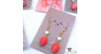 Strawberries / different colors / earring hooks