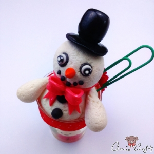 Snowman in a cup / note holder