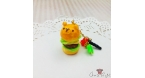 Bear shaped burger / gold-colored / dust plug