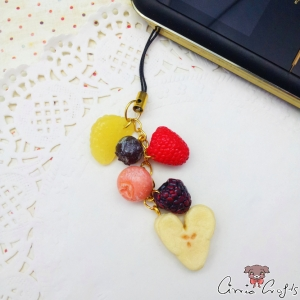 Fruits / gold colored / charm