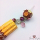Churro and cake pop / silver colored / pin