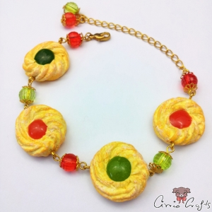 Jam cookies / gold colored / bracelet