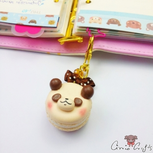 Panda-Macaron / Goldfarbend / Anhänger