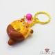 Donut in Bärenform / Goldfarbend / Schlüsselanhänger