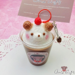 3D Café Latte Art / Bär / Notizhalter