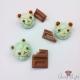 Schokolade und Melonpan in Bärenform / Set / Verschiedene Varianten / Bronzefarbend / Anstecknadeln