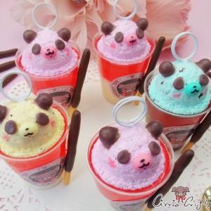 Wackelpudding mit Eis in Pandaform / Verschiedene Varianten / Notizhalter