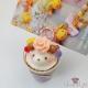 3D Café Latte Art mit niedlichen Dekorationen / Verschiedene Varianten / Notizhalter