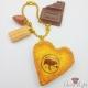 Mandelkeks mit Karamell / Kugelkette / Goldfarbend / Verschiedene Varianten / Taschenanhänger