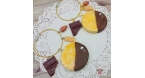 Almond cookies with caramel / different colors / bag charm