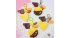 Almond cookie with caramel / different variations / charm