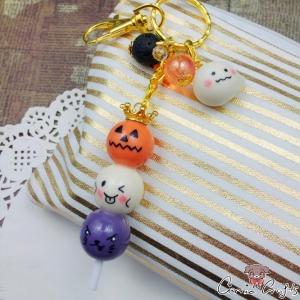 Dangos am Stiel / Halloween / Goldfarbend / Schlüsselanhänger