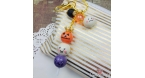 Dangos on a stick / Halloween / gold colored / keychain