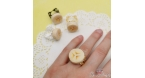 Banana slice / different colors / with banana scent / ring