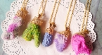 Crystal and gemstone necklaces