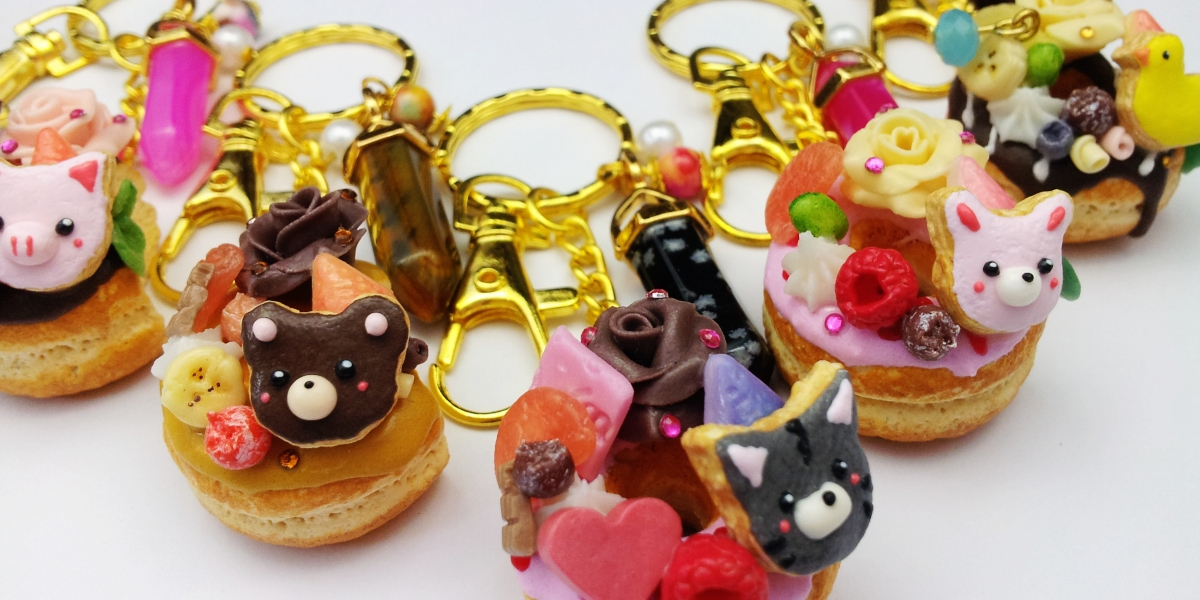 Cirria Crafts / kawaii donuts / charms